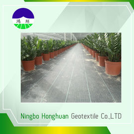 110gsm Split Film Woven Geotextile , Geotextile Stabilization Fabric For Weed Control