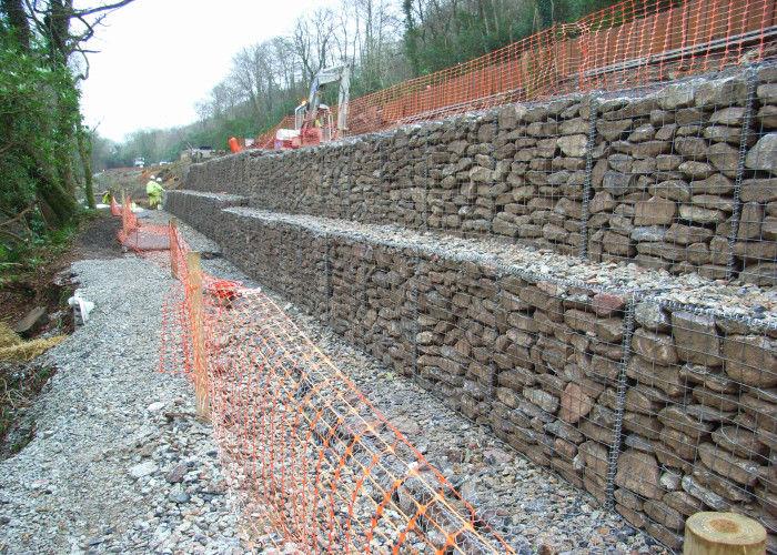 Mur de sout nement galvanis par biens de gabion pour la - Mur soutenement gabion ...
